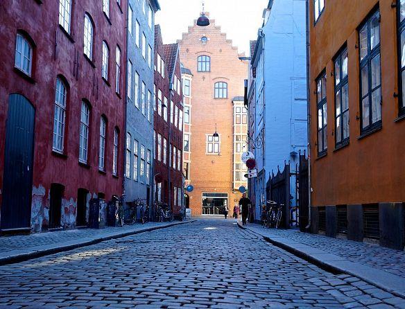 Beautiful Magstræde in the heart of Copenhagen