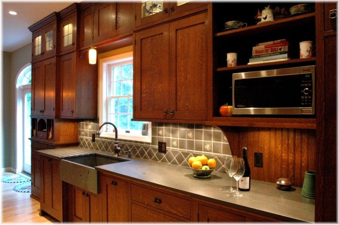Arts and crafts craftsman mission style custom design kitchen cabinetry ideas pictures