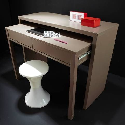 11 best images about salon on pinterest cable chloe and micke desk - Console bureau extensible ...