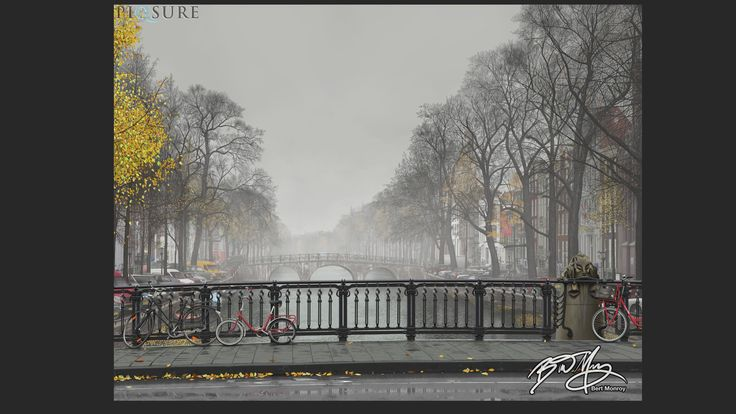 Bert Monroy spent 22 months creating this digital painting, Amsterdam Mist, with #Photoshop and #Wacom products. http://bit.ly/25ps-f #lynda25ps #Photoshop25