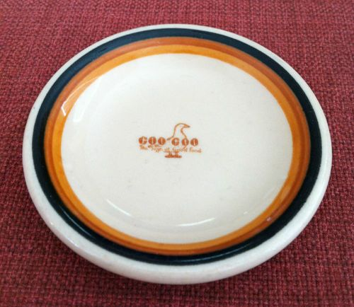 Vintage Goo Goo Restaurant Ware Butter Pat Columbus GA Walker China   eBay