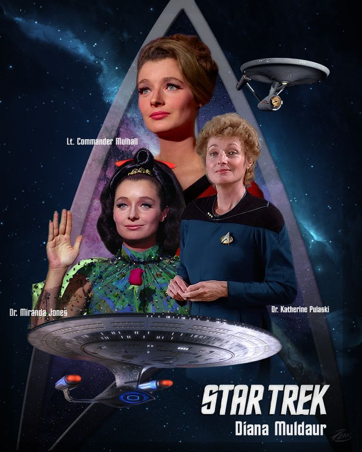 Diana Muldaur, playing multiple characters in Star Trek.