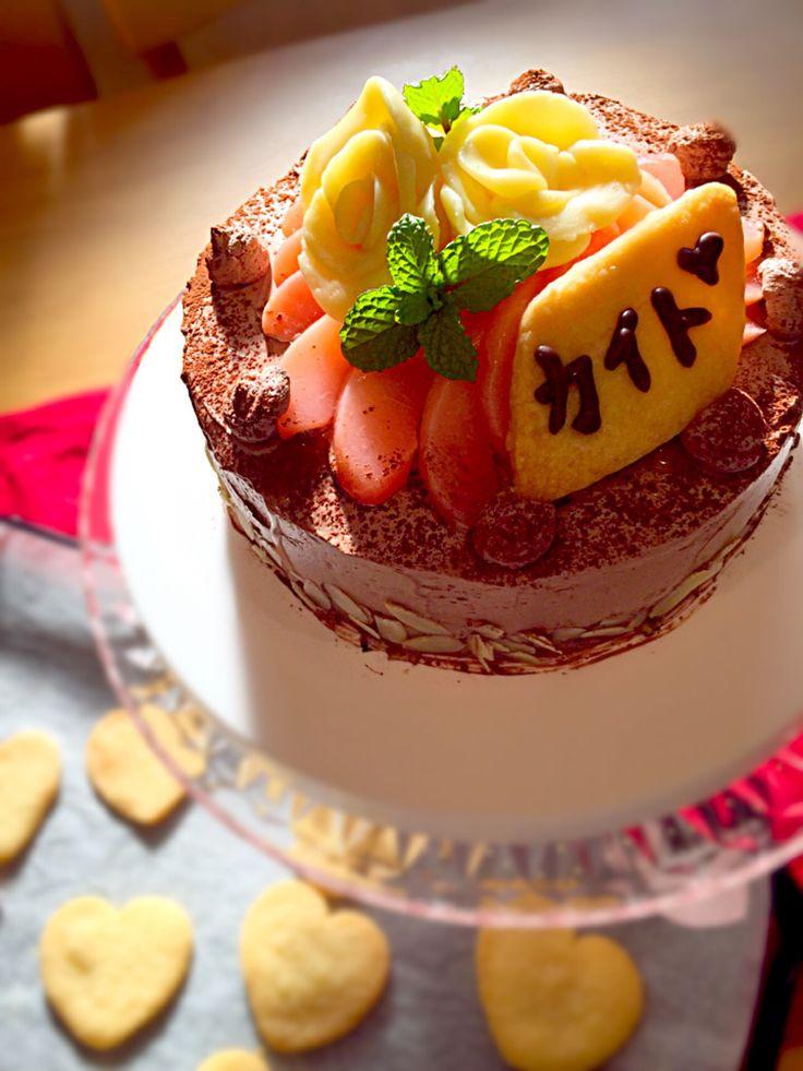 美穂's dish photo 薔薇のチョコレートバースデーケーキ | http://snapdish.co #SnapDish