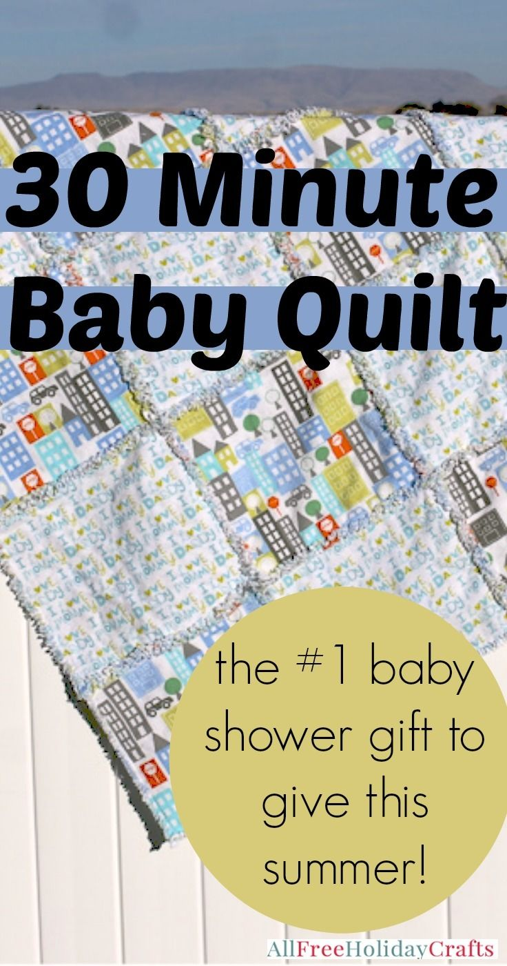 Free baby bed quilt patterns - 30 Minute Baby Quilt