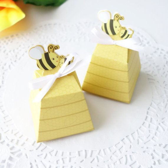 20x Honey Bee Baby Shower Favour Box Birthday By Flavourbox