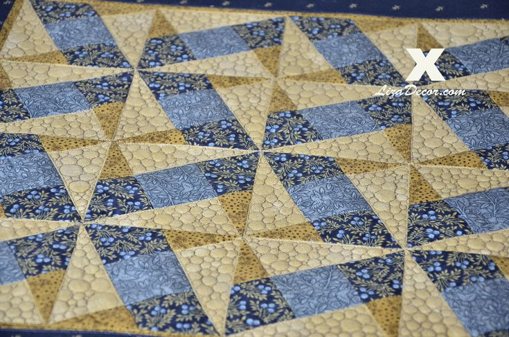 Patchwork Tutorial - X Block (Gold) Patchworkové šablony LizaDecor.com #patchwork #xblock #pattern #tutorial #lizadecor #video #šablony #vzory