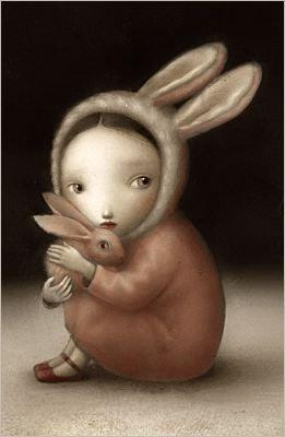 Nicoletta Ceccoli illustrates children's books. Cute #bunny #whimsical #illustration repinned by: www.website-designers.co.nz/