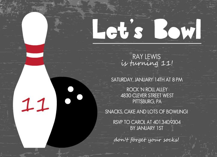77 best kids bowling birthday party images on pinterest birthdays charcoal lets bowl kids birthday invitation filmwisefo