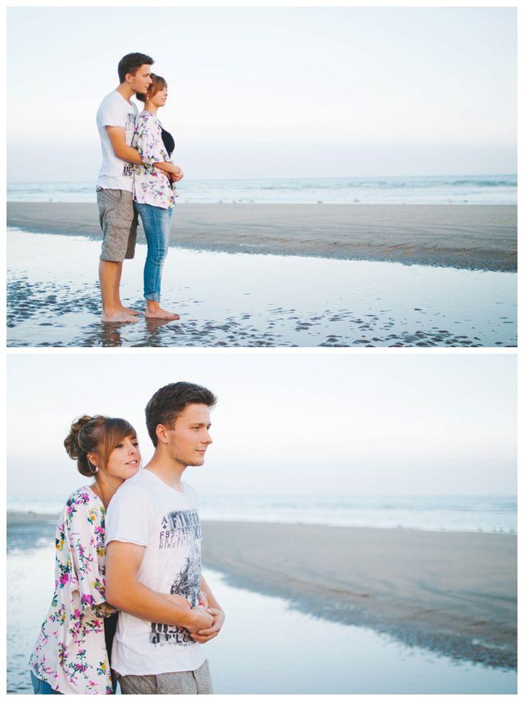 Couple hugging on the beach. www.ellen-richardson-weddings.com/blog