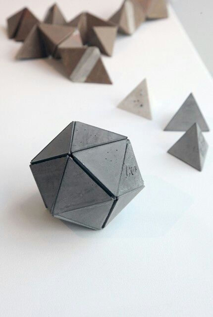 Concrete platonic solid