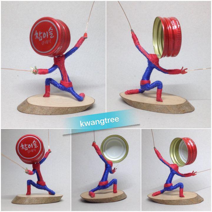 #병뚜껑아트 #병뚜껑공예 #뚜껑맨 #BottleCapArt #BottleCapCrafts #瓶盖 #艺术 #瓶盖人 #ビンの栓芸術 #스파이더맨 #Spiderman #蜘蛛俠 #蜘蛛人 #スパイダーマン