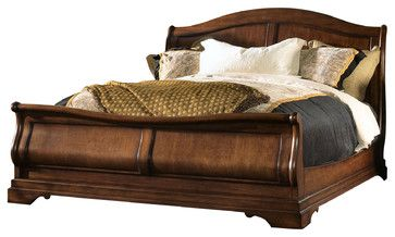Raylen Vineyards Sleigh Bed mediterranean beds