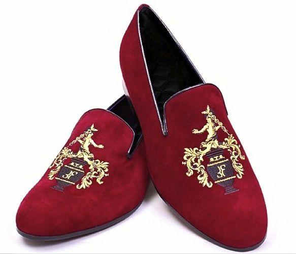 Red Velvet Slipper Shoes