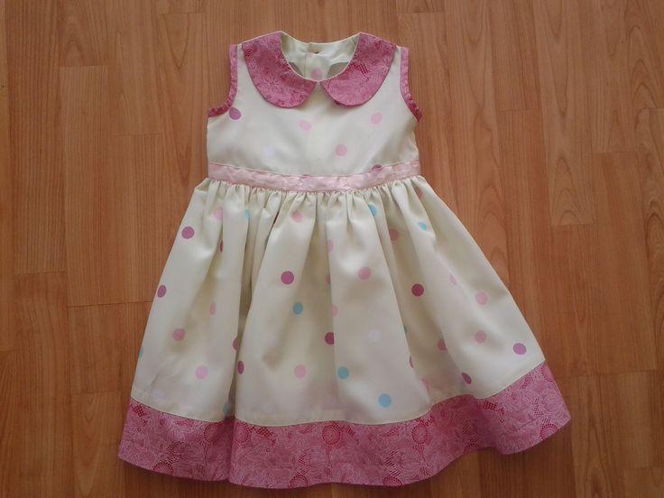 African print polkadot dress