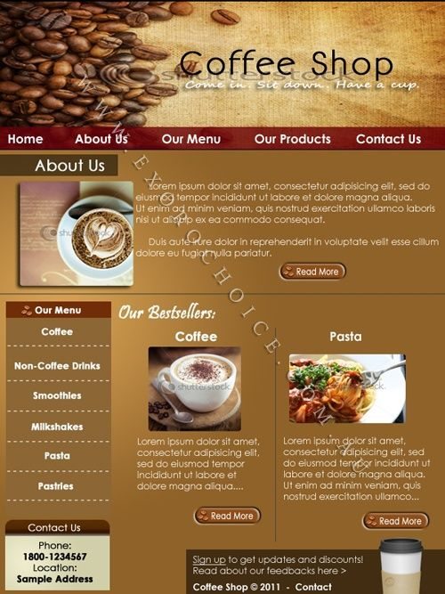 7 best webpage designs images on pinterest design web for Coffee shop design software