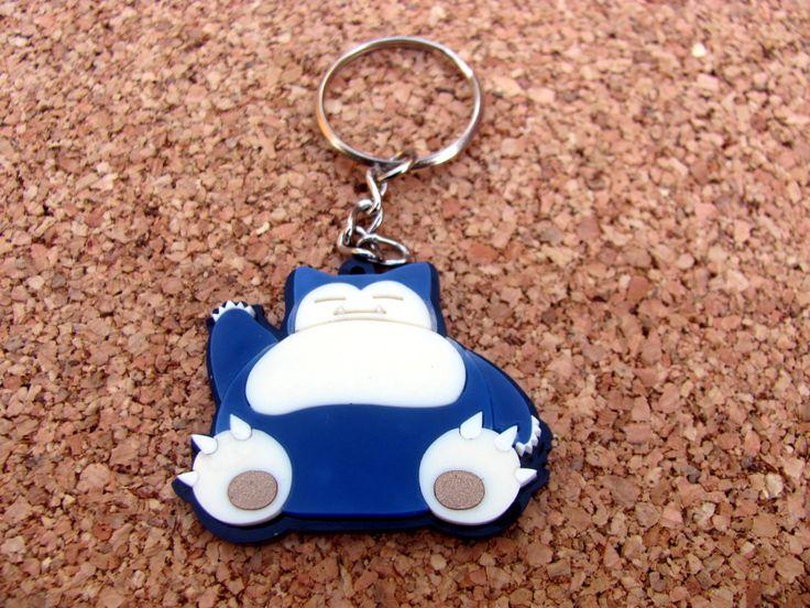 Snorlax Keychain by JoystickCorner on Etsy