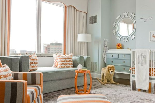Blue and Orange Nursery - Contemporary - nursery - Lovejoy Designs