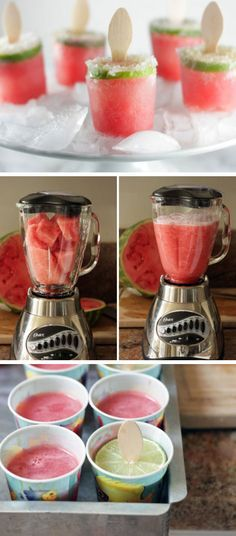Watermelon Margarita Poptails | Click Pic for 22 DIY Summer Wedding Ideas on a Budget | DIY Garden Wedding Ideas on a Budget