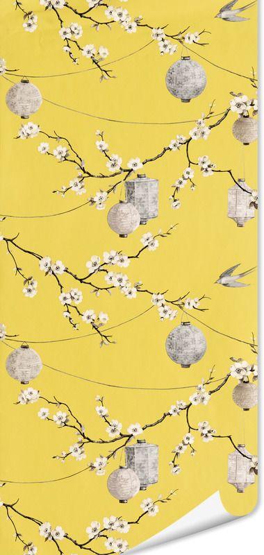 17 meilleures id es propos de papier peint jaune sur for Papier peint sur un seul mur