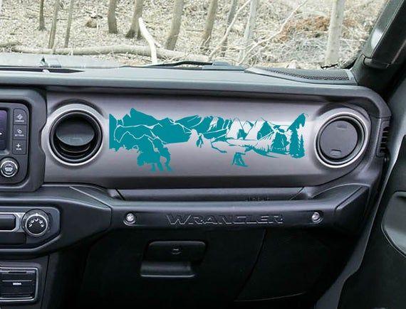 Jeep Wrangler Jl Jlu Jt Dashboard Snowboarder Mountain Scene Ver 2 Vinyl Decal Jeep Jl Jeep Wrangler Stickers Jeep Decals