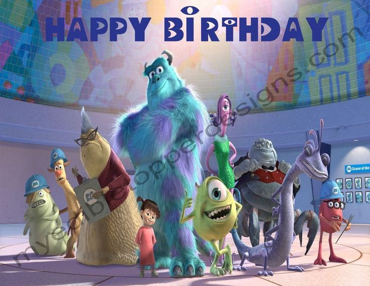 Monsters, Inc. Personalized Edible Print Cake Topper Frosting Sheets 5 Sizes #IcingImages