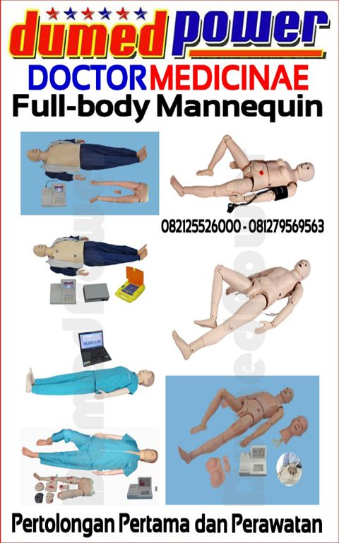 Phantom Alat Peraga Full-Body CPR dan Perawatan Manual dan Elektrik Doctor Medicinae