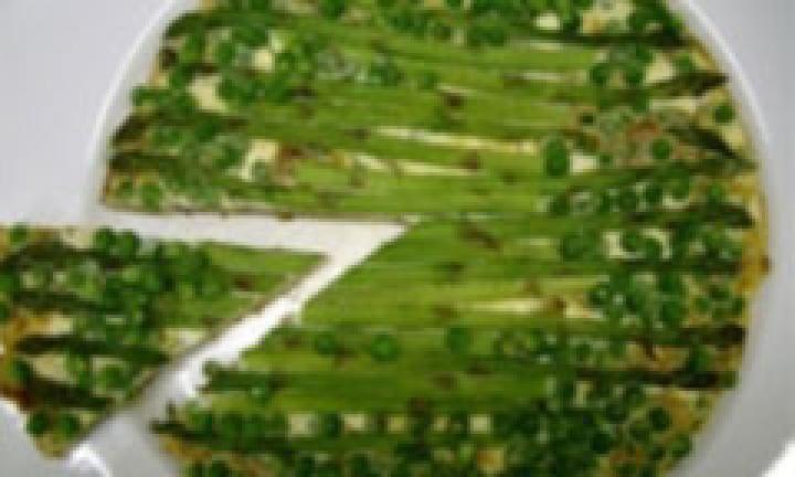 Pea and asparagus frittata