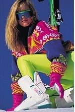80s ski gear. Is it wrong that I totally dig this and would rock this outfit on the slopes with no hesitation?!
