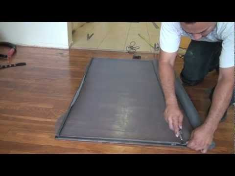 how to make a aluminum window screen cheap and easy... and most important with just few house hold tools..