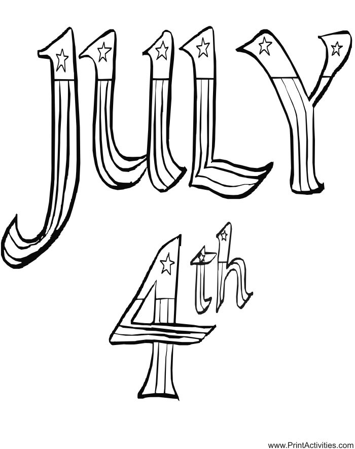 4th Of July Color Pages For Kids