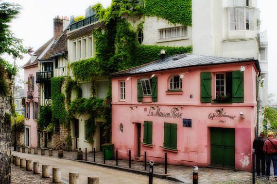 Paris photo, Paris wall art, Montmartre Art, la Maison Rose Photography, Paris Decor Bedroom Picture, Parisian art print