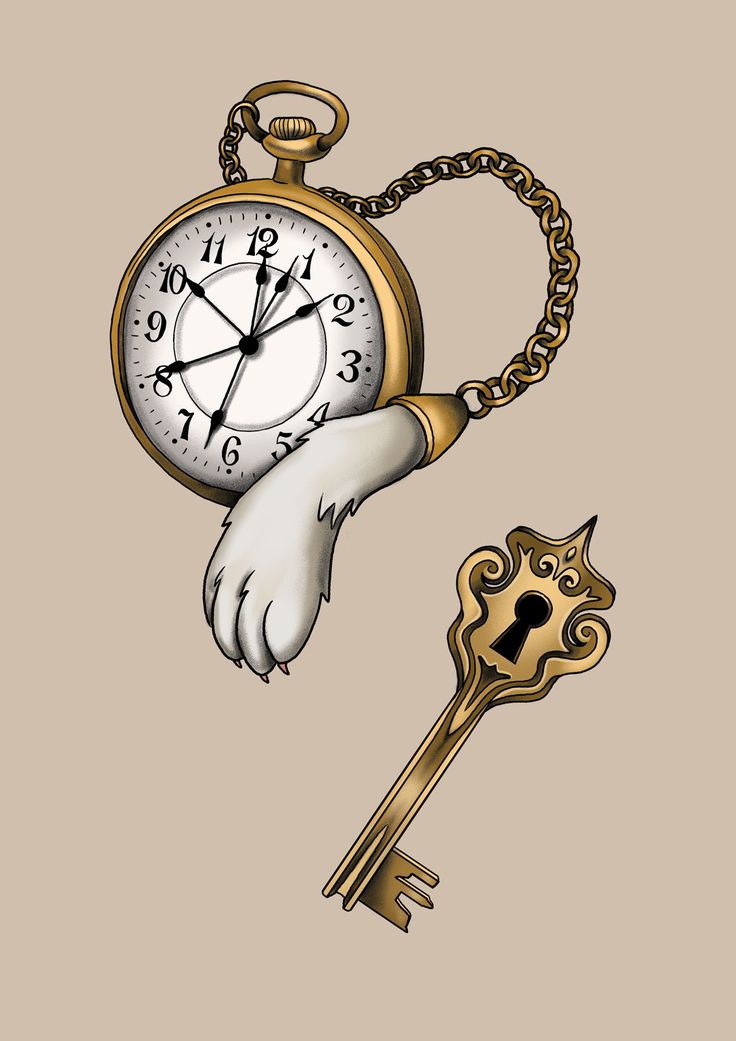 #aliceinwonderland #clock #white #rabbit #key #drawing #art #tattoo #design