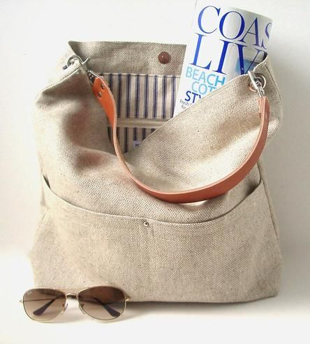 Woven Flax Bucket Tote