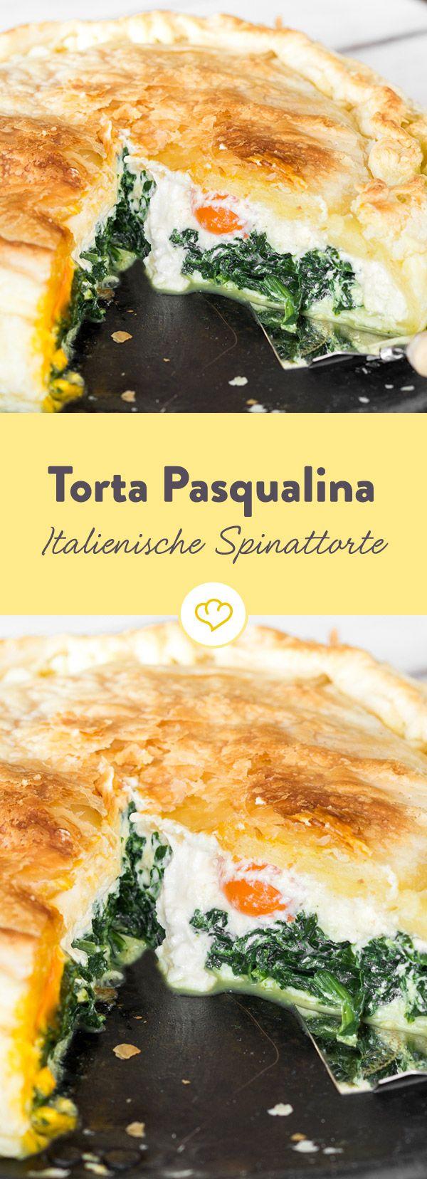 Diese herzhafte Torte mit Spinat und Ricotta gefüllt wird in Ligurien traditionell zu Ostern zubereitet und über die Feiertage angeboten und verputzt.