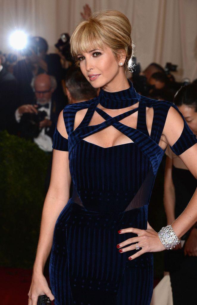 Ivanka Trump Lookbook: Ivanka Trump wearing French Twist (5 of 12). Ivanka swept her hair back into a classic French twist and styled her lash-grazing bangs sleek and straight.