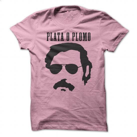 (Best Friend Gifts, Knit Sweaters)  - Plata o Plomo - Pablo Escobar Tshirt (pink). I WANT THIS =>  - #teachergiftideas #easygift #hoodie #giftideasforher.