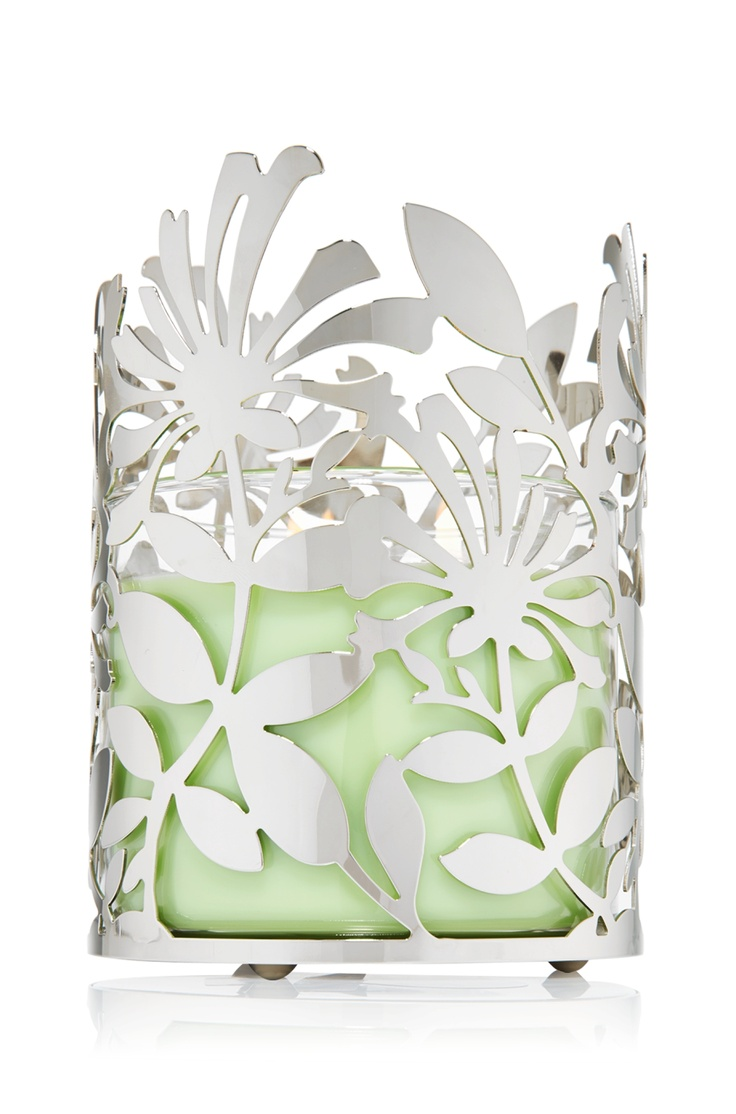 Pair your favorite tropical Candle with this Tropical Flower Candle Sleeve! #BBWSpring #bathandbodyworks