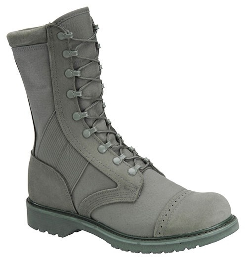 grey army boots