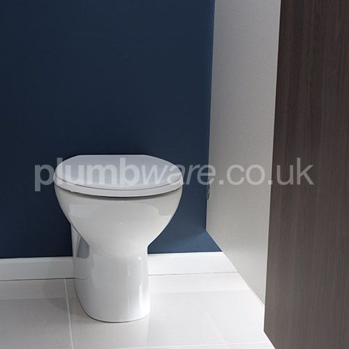 Back to Wall Toilet Pan with horizontal outlet.  Available from plumbware.co.uk