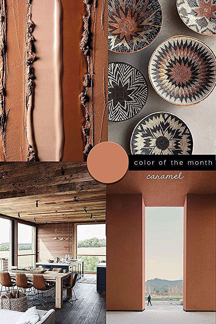 INTERIOR COLOR TRENDS 2020 CARAMEL IN INTERIORS AND DESIGN