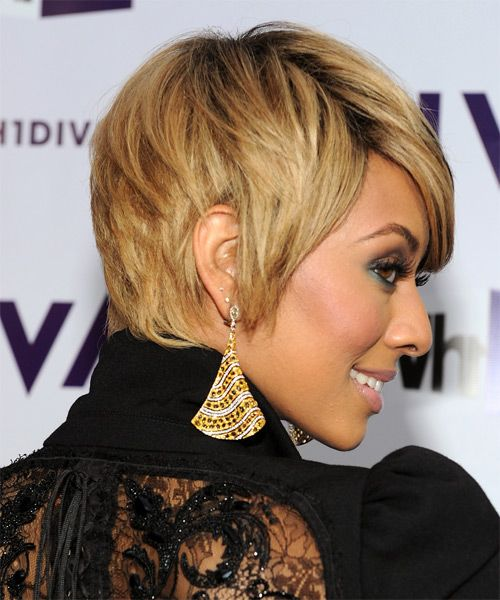 Keri Hilson - Casual Short Straight Hairstyle - side view | Hairstyle ideas | Pinterest ...