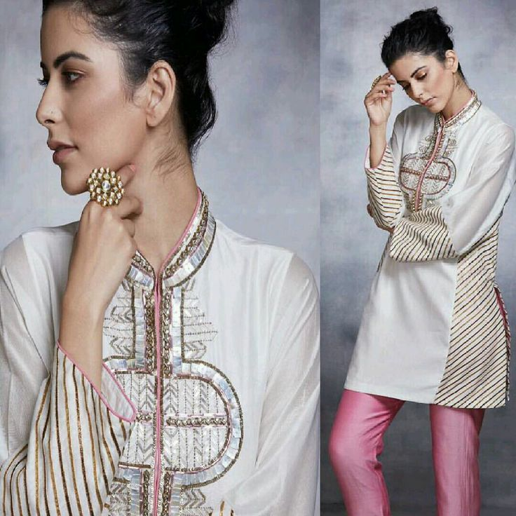 Elegant Of Eid with #DivaniPakistan! Beautiful Kurta Set with Straight Cut Pink Pants Made with Zardozi Technique and Embellished with Kundan and Mother Of Pearls! #DivaniPakistan #ElegantStyle #LuxuryFashion #TheIvoryKiss #EidCollection17 #PakistaniCouture #PakistaniFashion #PakistaniModels #PakistaniCelebrities ✨