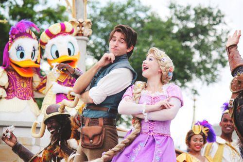 Rapunzel x Flynn Disney face characters