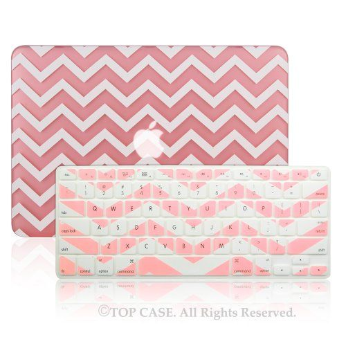 """TopCase Newly Designed 2 in 1 - Chevron Series Ultra Slim Light Weight Hard Case Cover Plus Matching Color Chevron Zig-Zag Keyboard Cover Skin for Apple MacBook Pro 13.3"""" with Retina Display Model: A1425 and A1502 (NEWEST VERSION 2013) - with TopCase Chevron Mouse Pad (Macbook Pro 13"""" w/Retina Display: A1425/A1502, Pink) TOP CASE http://www.amazon.com/dp/B00JVYUT98/ref=cm_sw_r_pi_dp_vlKOtb1FZAWQSV97"""