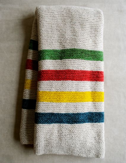 I know this is knit, but I like these colors for weaving towels.