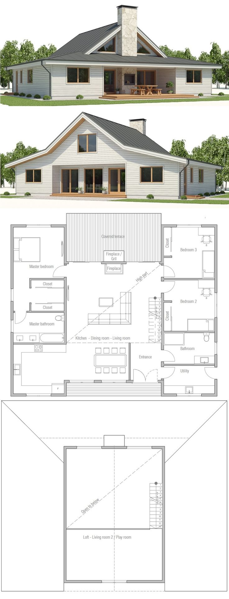 Home plan 741 best House Plans images
