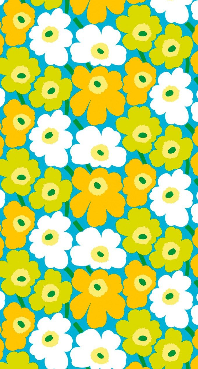 マリメッコ/ウニッコ08 iPhone壁紙 Wallpaper Backgrounds iPhone6/6S and Plus Marimekko Unikko iPhone Wallpaper