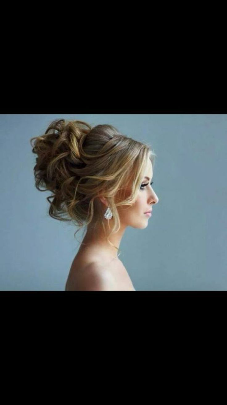 Bridal hair style from the front/ side