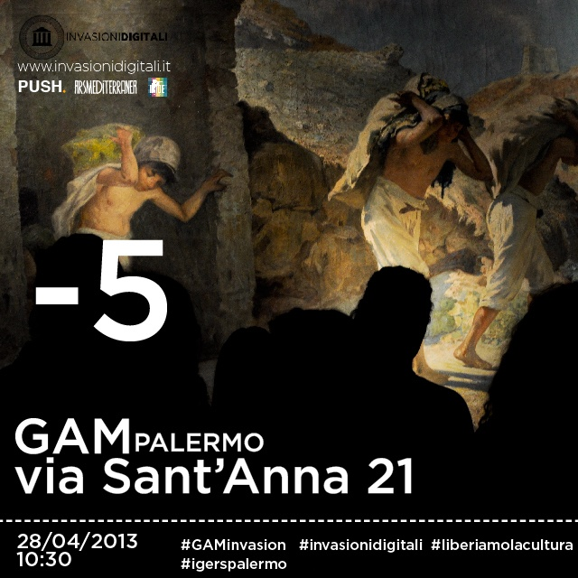 -5 alla #GAMinvasion! #Palermo #invasionidigitali #liberiamolacultura