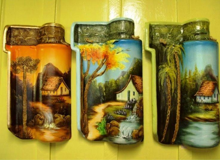 telhas pintadas por Rosana Artes